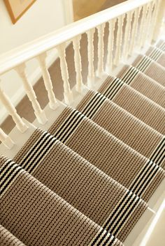 Stair runner: Flaxman Stone by Roger Oates and available at Mister Smith Interiors
