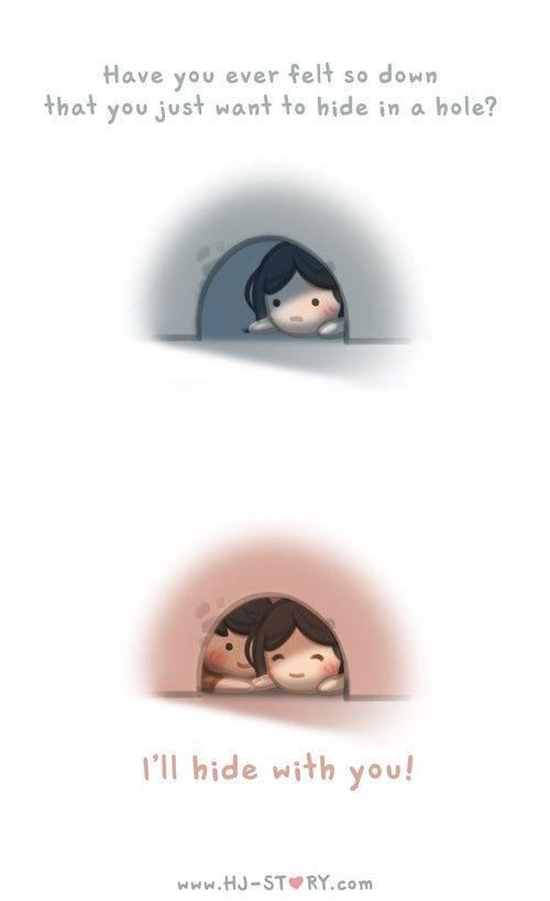 HJ-Story :: Você já se sentiu tão mal que você só quer se esconder em um buraco?? Eu me escondo com você!