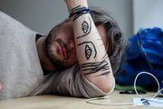 """My & My Friends"", series of Face-Paint photographs by Sebastian Bieniek (B1EN1EK). #SebastianBieniek #B1EN1EK #MeAndMyFriends #MeAndMyFriends21 #MeAndMyFriendsNo21 #FacePaint #Bieniek #Doublefaced"