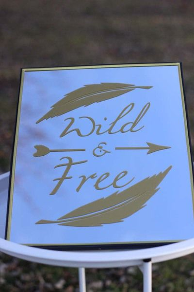 Run wild and free with this cut file.  It has both files with and without feathers and includes both the SVG file for Cricut and the DXF file for Silhouette machines!  This design is quick project that is perfect to decorate your cricut, tablet case, a shirt, etc.  The possibilities are endless.
