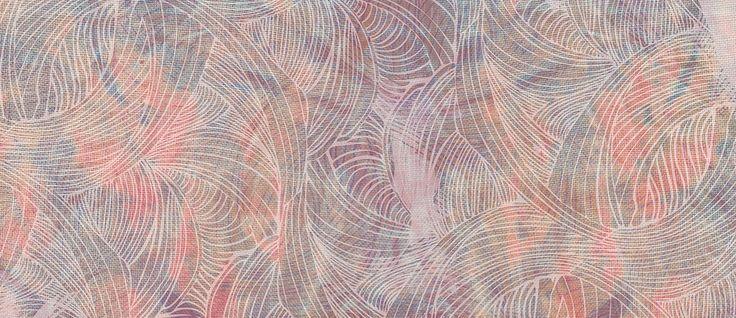Gaawaa (river) digital print on silk