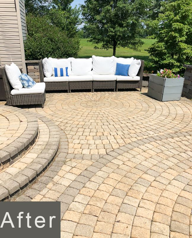 How To Remove Mildew And Mold From Paver Patio And Concrete Surfaces Paver Patio Patio Paver