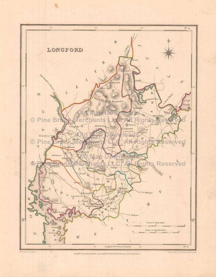 Best Ireland Antique Maps Images On Pinterest Antique Maps - Ireland map download