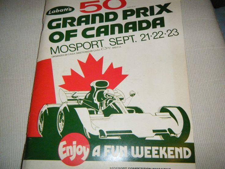 CANADA GRAND PRIX MOSPORT 1973 PROGRAMME TICKETS FRANCOIS CEVERT JACKIE STEWART