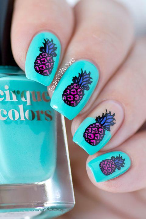 Pineapple Nail Art tutorial