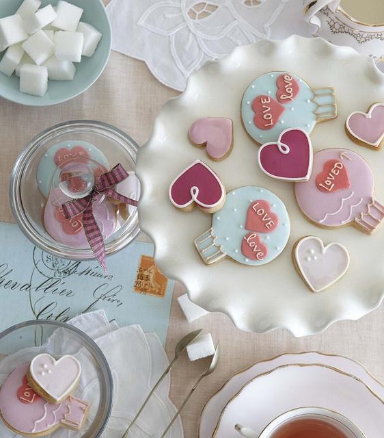 Heart Sugar Cookies Cookie Decorating Pinterest