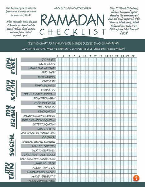 Iemand de ramadan checklist voor mij? - Pagina 2