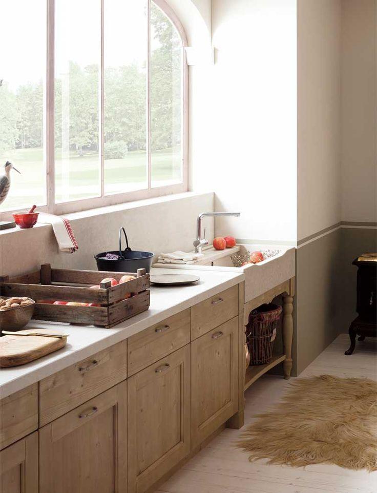 Cucina Tabià in abete malto di Scandola Mobili. / Tabià kitchen by Scandola Mobili. #Tabià #Scandola #kitchen #cucine