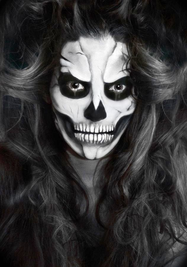 30 skeleton halloween makeup ideas for women - Cool Halloween Pics