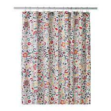 SOLD - NEW IKEA Akerkulla shower curtain set Nackten liner + Ringsjon curtain rings