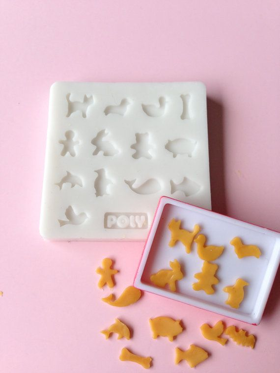 Silicone Flexible Animal Shape Cookies Mold for by luluminiatures, $23.00   This site has molds of all types!  Check it out!