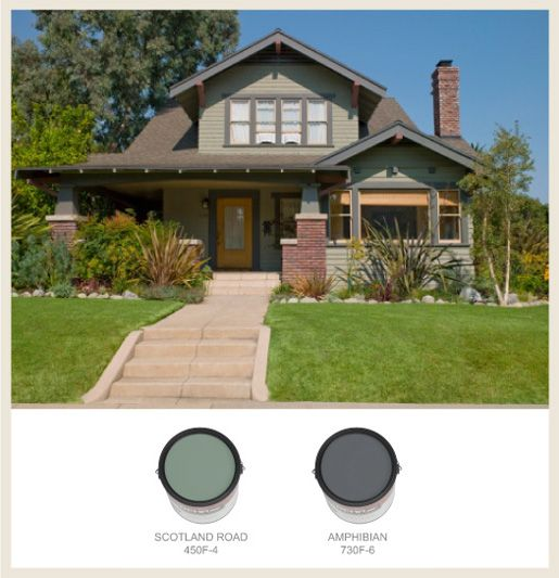 17 best images about paint colors for bungalow on for Arts and crafts house colors
