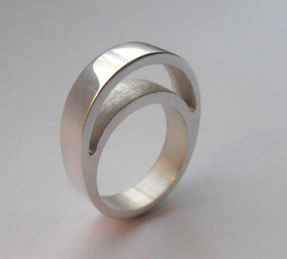 Empty Space  sterling silver ring by izzietale on Etsy