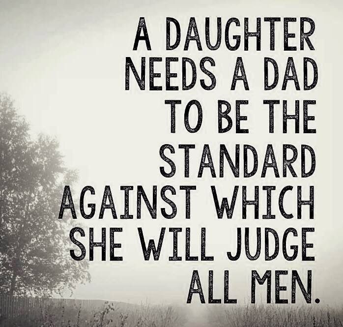 So perfectly said. Girls will choose a man based on what they learned from their own fathers.