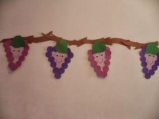 Maro's kindergarten: Purple like grapes! Crafts activities! Project: Τα χρώματα…