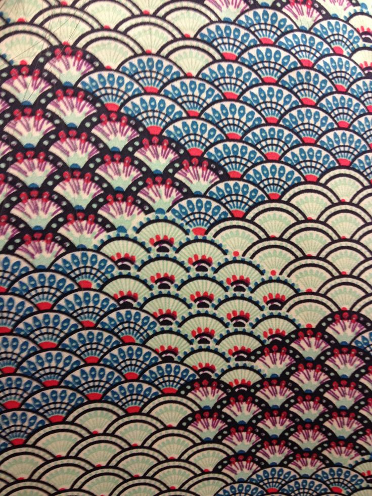 textile pattern-scalloping
