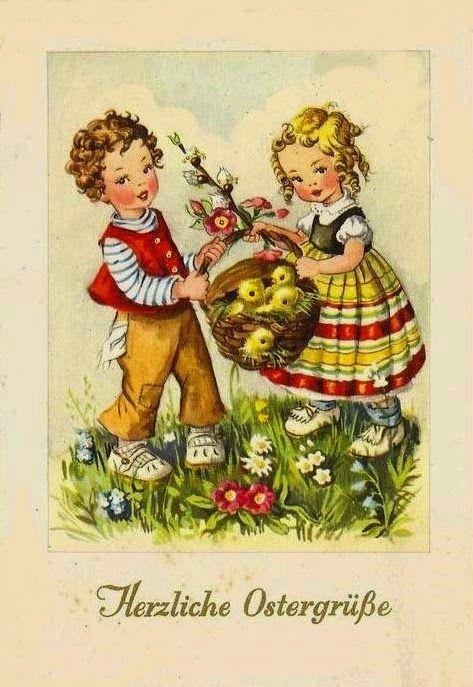 Hearty Easter Greetings GERMAN Herzlichen Ostergrübe