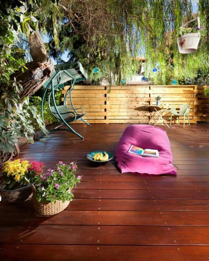 cloture de jardin pour terrasse en bois pas cher et déco en palettes