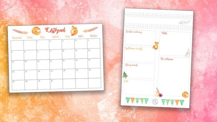 Bullet journal: planner na listopad do wydrukowania i wklejenia