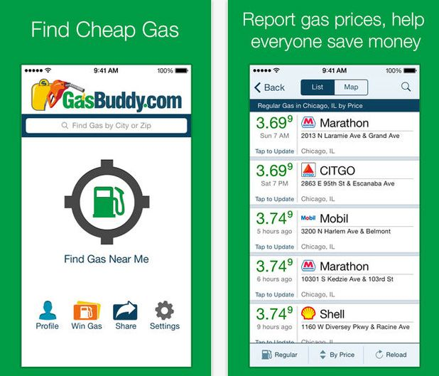 ESSENTIAL APPS FOR THE PERFECT SUMMER ROAD TRIP: Gas Buddy.
