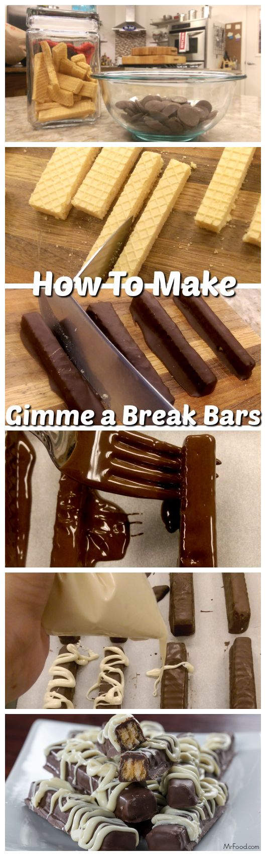 """With two ingredients you can make this copycat version of one of your favorite candy bars! We're going to show you how to make our """"Gimme a Break Bars,"""" step-by-step!"""
