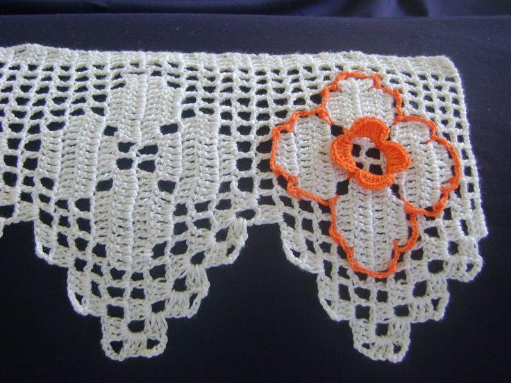 bicos de croche com graficos para caminho de mesa - Pesquisa Google