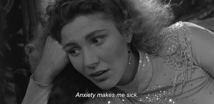 (Wim Wenders, screenshot from 'Wings of Desire') Anxiety makes me sick. :P