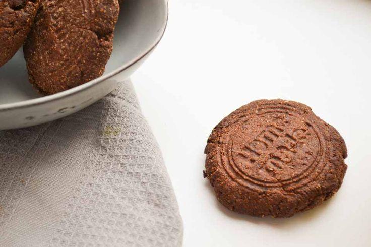 Suikervrije Chocoladekoeken van Amandelmeel en Roggemeel, Chiazaad