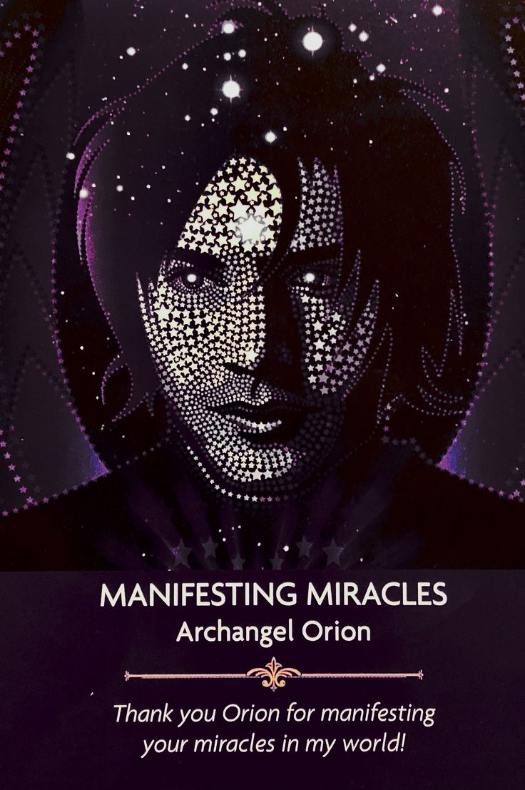 "Daily Angel Oracle Card: Manifesting Miracles: from the Angel Prayers Oracle Card deck, by Kyle Gray, artwork by Jason Mccreadie Manifesting Miracles : ""Archangel Orion"" ""Thank yo…"