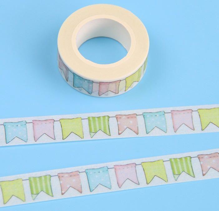 10 Metri nastro di carta Bandierine Arcobaleno - Washi tape - Washitape - Nastro adesivo - Nastro di carta - Scotch - Scrapbooking di CuciCuciCheTiPassa su Etsy