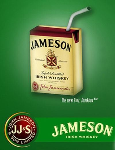 Jameson Irish Whiskey.......never seen a whiskey juice box before!