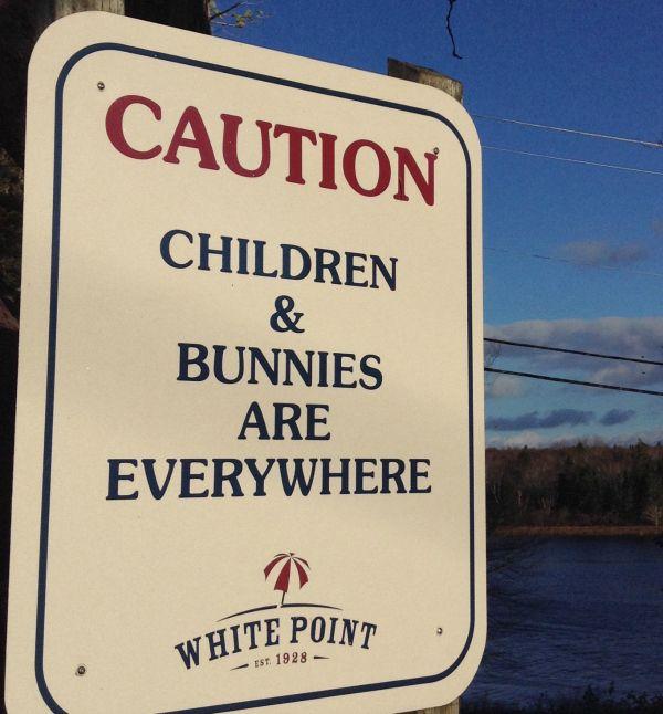 Winter Magic at Nova Scotia's White Point Beach Resort- children and bunnies