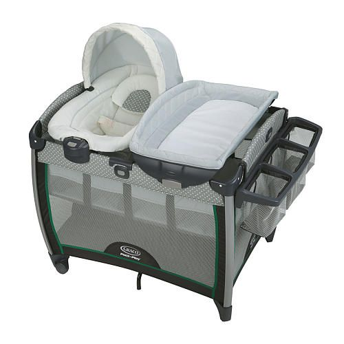 """Graco Pack 'n Play Playard With Quick Connect Portable Napper & Quick Connect Changing Table - Albie - Graco - Babies """"R"""" Us"""