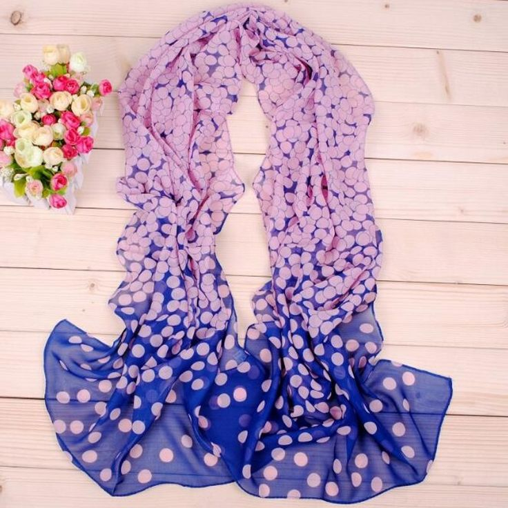 2017 New Design Long Dot Women Scarves Soft Silk Chiffon Women's Shawl Turban Belt Wholesale Hijab Fashion Arabic scarfs wrap