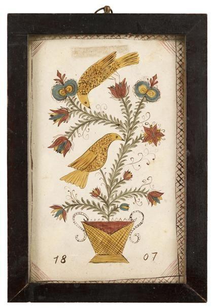 """Fraktur: Drawing, dated """"1807"""""""