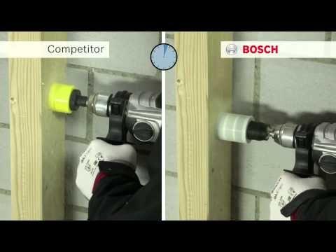 Test Bosch: Adaptateur Power Change, scie trépan et cloche