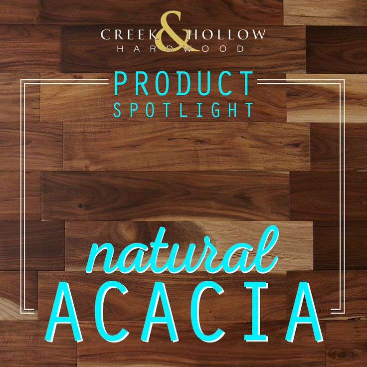 ... And It Has A Rustic, Natural Look With Noticeable Grains And Knots. The  Click Lock Construction Of This Acacia Hardwood Flooring Makes ...