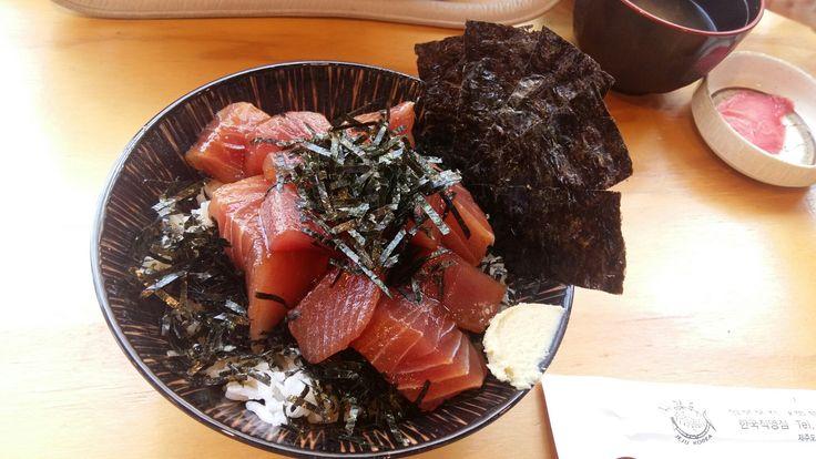 Sashimi rice(덮밥) in Jeju