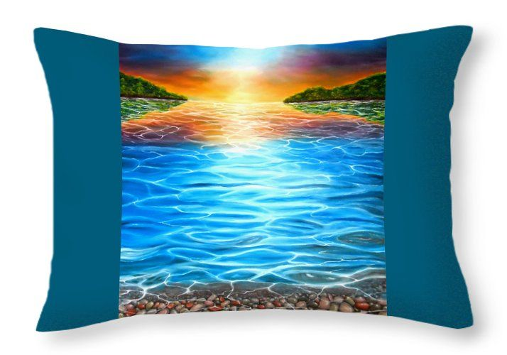 Throw Pillow,  home,accessories,sofa,couch,decor,cool,beautiful,fancy,unique,trendy,artistic,awesome,fahionable,unusual,gifts,presents,for,sale,design,ideas,blue,colorful,coastal,sunset,sea