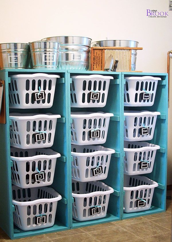 Laundry Organizing  (Or storage for virtually anything.)