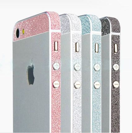 Glitter Bling Bumper Side Stickers for Iphone 5 5s on Etsy, $3.99