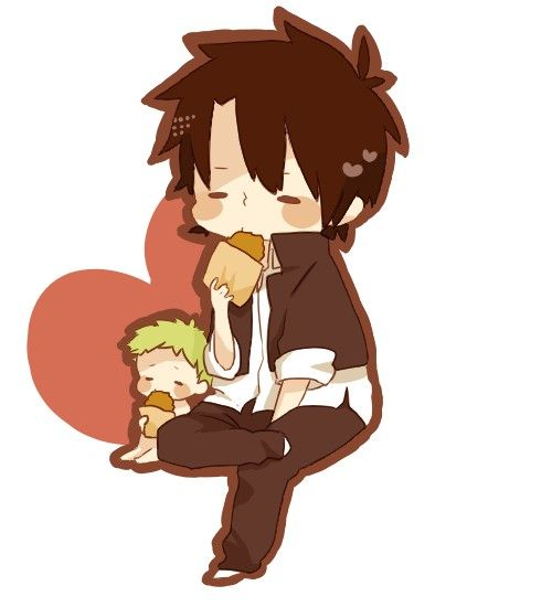 Tags: Anime, Pixiv Id 2192004, Beelzebub, Oga Tatsumi, Baby Beel, Father And Son, Father