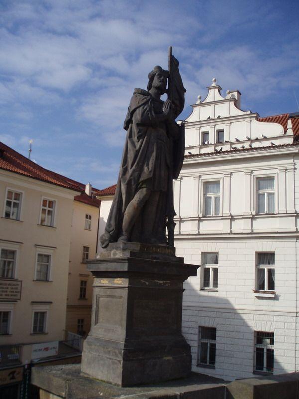 Photos of Charles Bridge South Side Statues: Statue of St. Wenceslas on Charles Bridge
