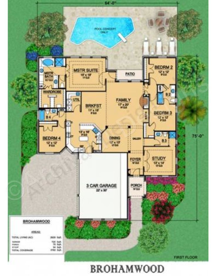 Brohamwood retirement house plans ranch floor plans for House plans for retired couples