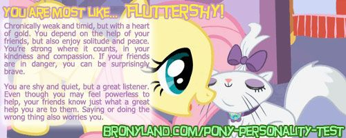 You are most like Fluttershy!