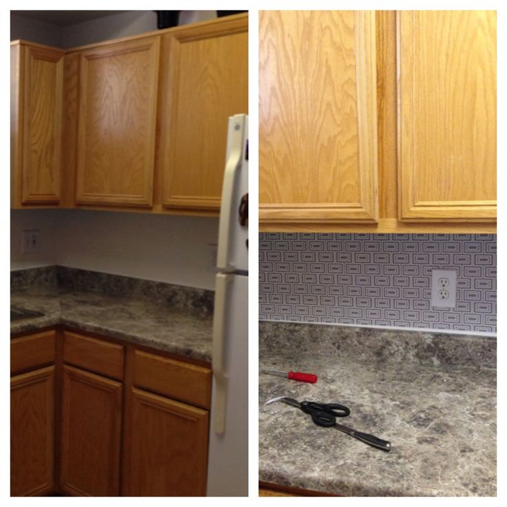 Kitchen Backsplash Contact Paper: Used Contact Paper As The Backsplash In My Kitchen