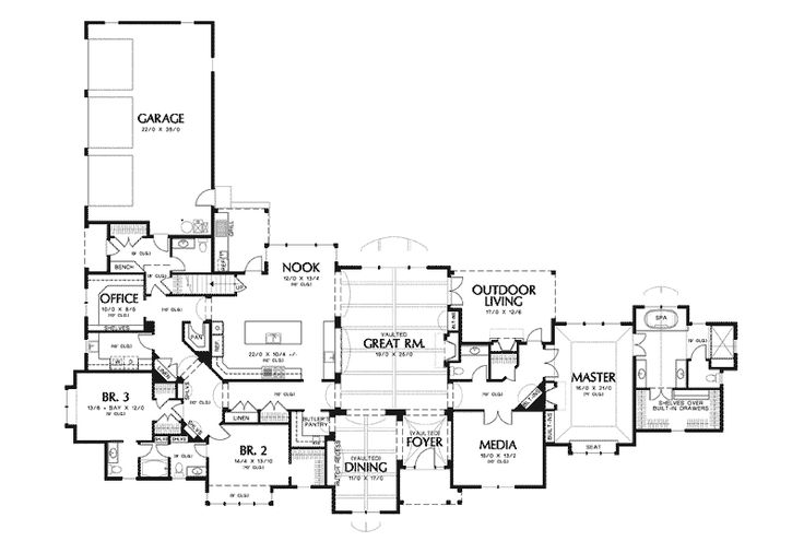Champlain luxury home european house plans house plans for Luxury european house plans