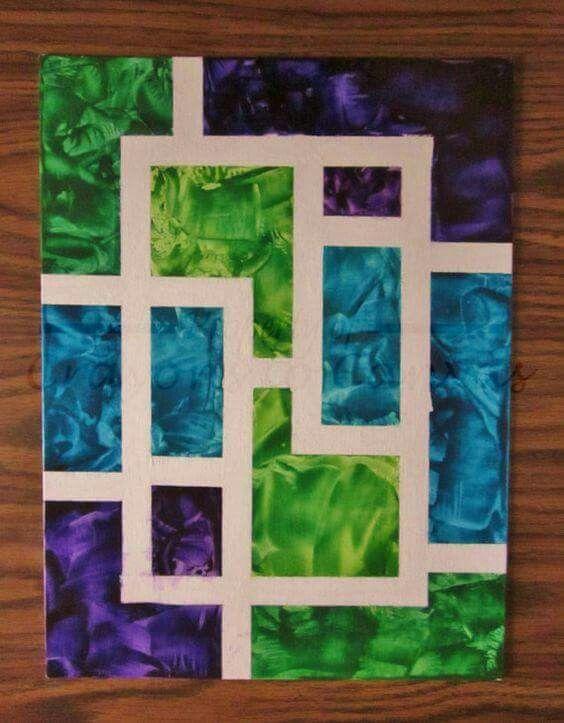 25+ best ideas about Painters tape art on Pinterest | Canvas ideas ...