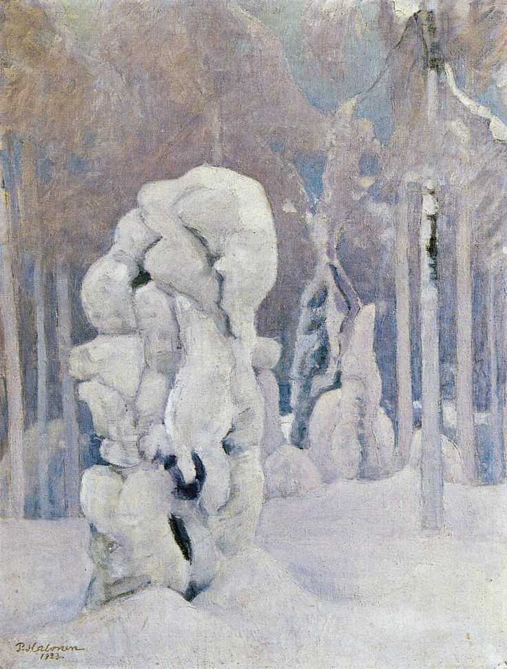 Pekka Halonen, Kinahmin Talvea (Winter in Kinahmi), 1923, The Life and Art of Pekka Halonen - from http://www.alternativefinland.com/art-pekka-halonen/