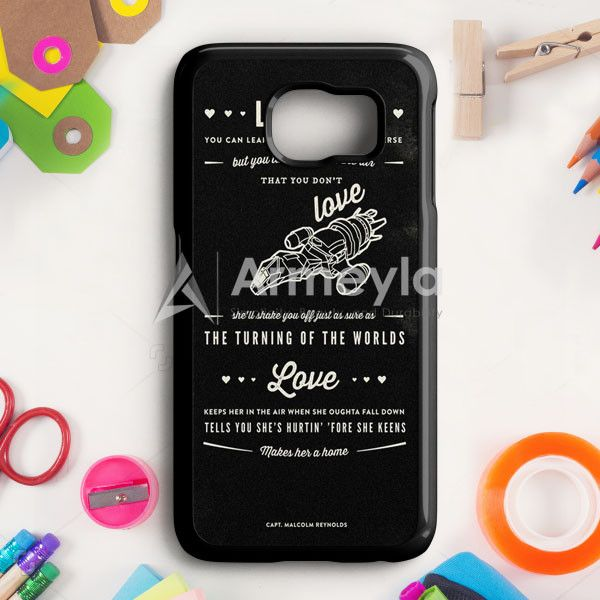 Firefly Serenity Quotes Samsung Galaxy S6 Edge Case | armeyla.com